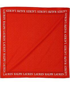 LAUREN RALPH LAUREN Red With Small White Polka Dot Bandana Handkerchief OS NEW