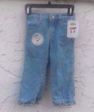 Girl's Toddler Denim LEE Riders Ruffle Jean Pants Size 2T Elastic Waist NEW