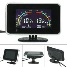 Water Temp Gauge Sensor 12V/24V Car Digital Display Alarm Auto Meter SUV LCD