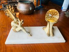 Rare 1920's Art Deco JB Hirsch Gerdago Pixie Lamp with controlled bubble Shade