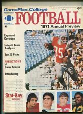 Game Plan College Football 1971  ANNUAL Preview    MBX90