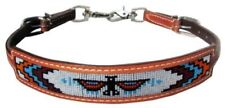 Showman MEDIUM OIL Leather Wither Strap With Navajo Beaded Thunder Bird Inlay!