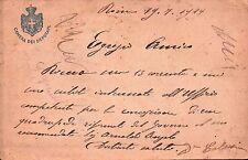 CARTOLINA INTESTATA A CAMERA DEI DEPUTATI 1919 - AL SINDACO DI ONZO SV  C10-437