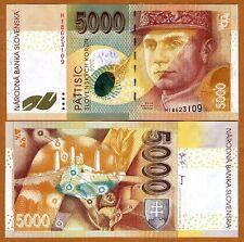 Slovakia, 5000 Korun, 2003, P-43, UNC > last Pre-Euro