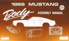 1969 Ford Mustang Body Assembly Manual 69 Grande Mach I Windows Chrome Lock More