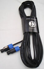 15m speaker cable SPEAKON TO SPEAKON HEAVY DUTY *NEW*