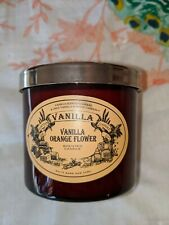 RARE White Barn Candle Vanilla Orange Flower  4 OZ Tahitian vanilla