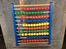 Vintage Children's Counting Wood Beads Toy Colorful Abacus 🧮