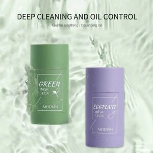 Green Tea Solid Mask Eggplant Clearing Acne Beauty Skin Moisturizing Oil Control