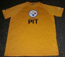 NWT Pittsburgh Steelers PIT Under Armour Heat Gear Mens Shirts Med Football NFL
