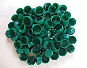 100+ Green Plastic Perrier Water Bottle Caps Lids Arts Crafts Art Project