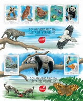 Animals Marine Fauna Pandas Butterflies Birds Fishes Guinea-Bissau MNH stamp set