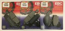 Kawasaki KLE650 Versys (2007 to 2014) EBC Organic FRONT and REAR Disc Brake Pads