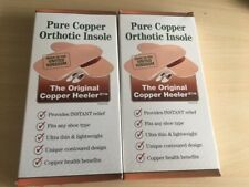 the original copper heeler pure copper orthotic insole size uk 2-4 2 packs