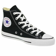 CONVERSE ALL STAR HI TOPS CANVAS PUMPS TRAINERS SHOES SNEAKERS BLACK WHITE