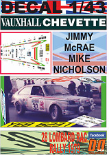 DECAL 1/43 VAUXHALL CHEVETTE 2300 HS JIMMY McRAE RAC R.1979 12nd (07)