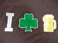 I Love Beer T Shirt Brown Size 2X Irish Shamrock Foamy Mug St Patricks Day Pub
