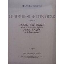 DUPRÉ Marcel Le Tombeau de Titelouze Orgue 1946 partition sheet music score