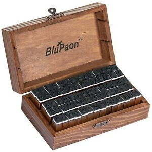 BluPaon Alphabet Stamps - Set of 70 Letter Stamps Includes 26 Capital Letters...