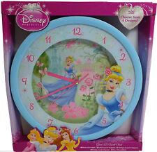 Disney Princess Wanduhr XXL 36 cm Uhr Kinderuhr Prinzessin Cinderella Blau
