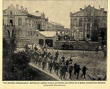 Cina-BOXER guerra: avanti tutta D. Engl. truppe da Tientsin-Pechino immagine documento 1900