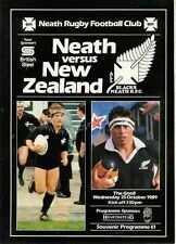More details for new zealand all blacks tour 25 october 1989 v neath rugby programme
