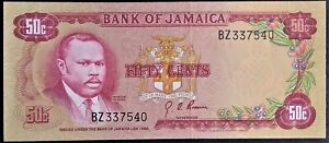 JAMAICA 2004 50 DOLLARS UNCIRCULATED NOTE P-79e DOCTOR/'S CAVE BEACH USA SELLER !