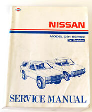 Nissan Navara D21 series workshop manual published 1990