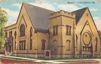 Sedalia Missouri~Masonic Temple~1938 Linen Postcard