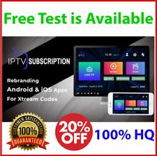 IP TV 1 Year PREMIUM Subscription Smarter Android Box  Smart tv M3u + FREE TEST