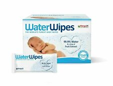 WaterWipes Unscented Baby Wipes Mega Value Pack of 12 x 60 Wipes Exp 12/2021