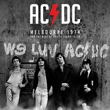 "AC/DC 'Melbourne 1974 & The TV Collection' 2x12"" White/Red Splatter Vinyl - NEW"