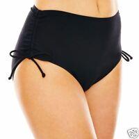 Jamaica Bay Black Side-Adjustable Swim Bottoms Size 24W New