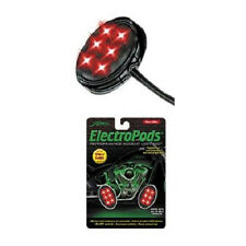 2 Street Fx Electropods Accent Lighting Oval Red LED Motorcycle Black Housing