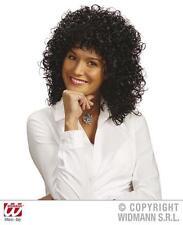 Femme noir curly perruque caniche cheveux Perm 70's ROBE FANTAISIE