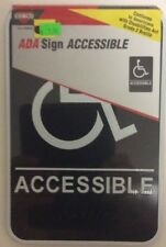 "ADA Sign ACCESSIBLE Handicapped 9"" x 6"" COSCO Item # 098094 Brand NEW!  J-26"