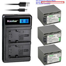 Kastar Battery LCD Dual Charger for Sony NP-FP30 NP-FP50 NP-FP70 NP-FP90 NP-FP91