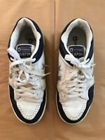 Vintage Converse Weapon Sneakers Lowtop Blue White Mens 9.5 Leather Worn