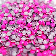 Hotfix Rhinestud Metal Iron on Beads Dress Shoes T-shirt Bags Card Craft Hot Pink Neon 5mm 1000