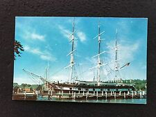 Mystic, CT Charles W  Morgan Sailing Ship postcard