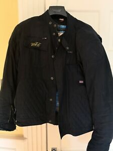 RST Classic Cotton Wax Motorcycle Motorbike Jacket Armour Liner Great Men XXL