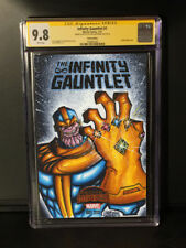 INFINITY GUANTLET THANOS 9.8 SKETCH COVER Chris McJunkin CGC SIGNATURE SERIES SS