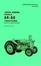 John Deere Model Ar - Ao Tractor Operators Manual 250k+