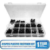 415Pcs Plastic Car Door Trim Clip Bumper Rivets Screws Panel Push Fastener Kit E
