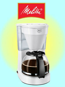 Melitta EASY Filter Coffee Maker with Glass Jug Compact Design - 1023-01 - White