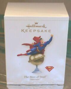 SUPERMAN THE MAN OF STEEL 2006 HALLMARK CHRISTMAS TREE ORNAMENT DAILY PL NIB MIB