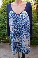 AUTOGRAPH Navy Blue Tones Tunic Top Size 20. NEW RRP $59.99. 3/4 Sleeves