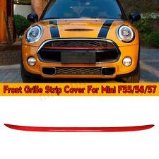 For Mini F56 / 55/ 57 Red Cooper Cooper S JWC Splitter Front Grille Stri