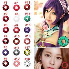1Pc Lentille de Contact Couleur Contact Lenses Halloween Cosplay / Crazy / 1 an