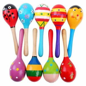 Baby Kids Child Sound Music Gift Toddler Rattle Musical Wooden Intelligent Toys